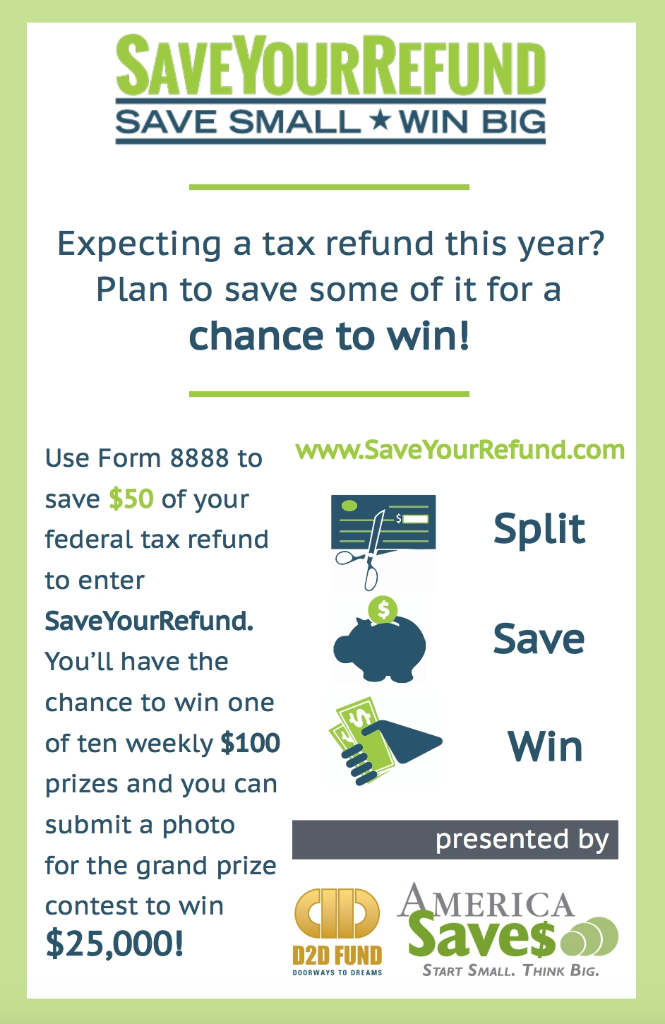 tax refunds: the 1/3 rule and the save your refund promotion