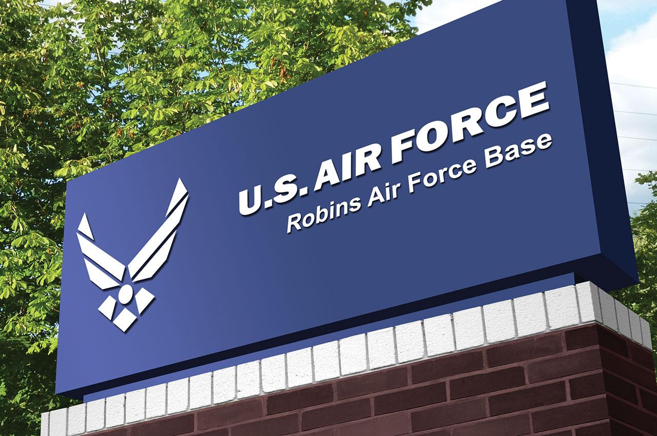 Us Robins Air Force Base Sign